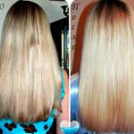 Лечение волос огнем до и после