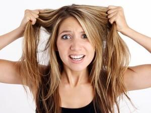 Выпадения волос от стресса
