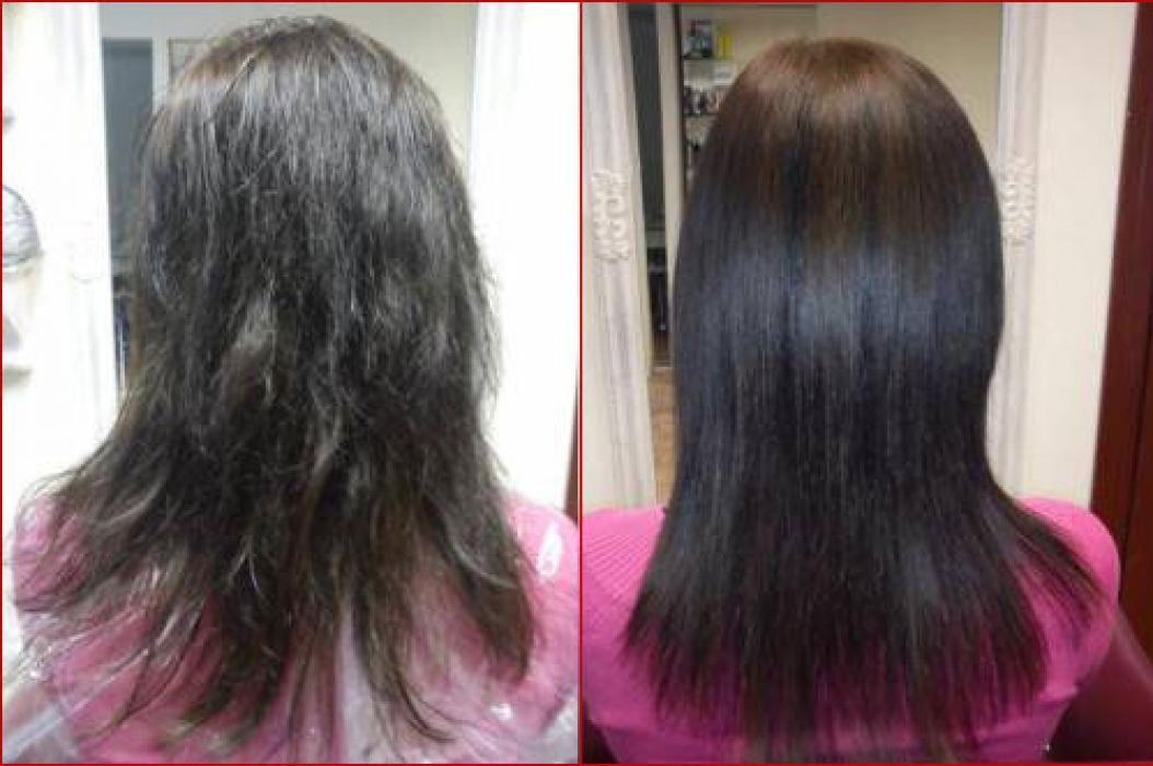 волос до и после