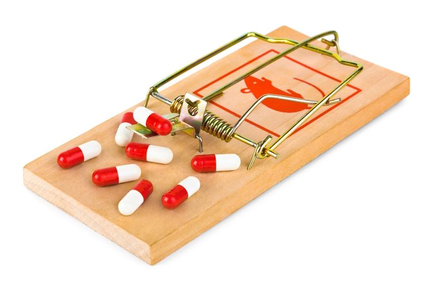 ловушка и таблетки
