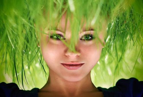 девушка маска для волос