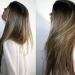 До и после маски для волос из горчицы