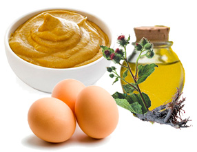 Горчица и репейное масло для волос