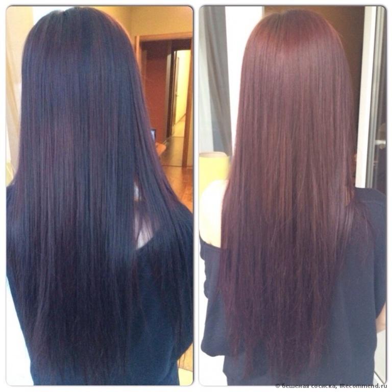 Смывка краски с волос кефиром фото до и после фото