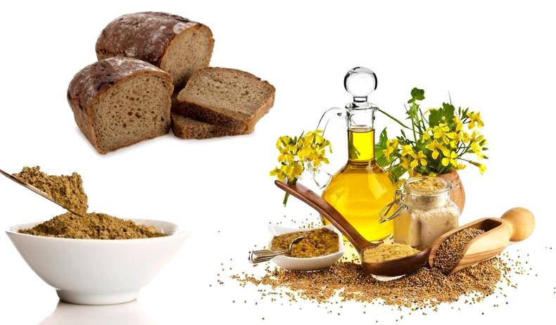 Горчица и хлеб для волос