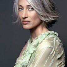 Стрижка на седые волосы Фото 2
