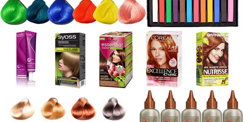Краски для волос, палитры