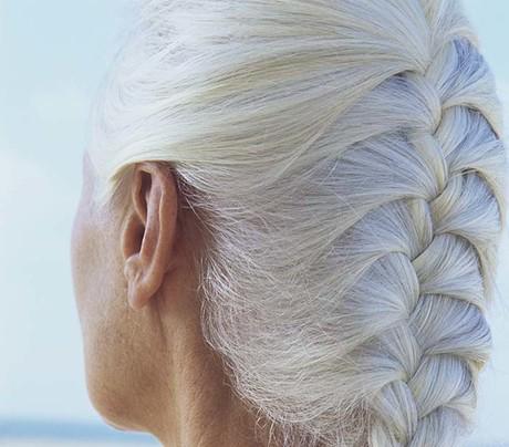 Седые волосы косы