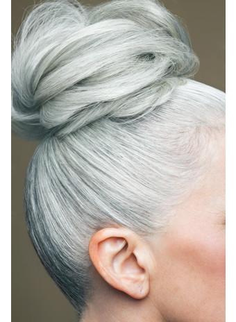 Седые волосы пучек