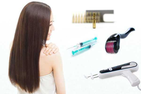 Процедуры для седых волос