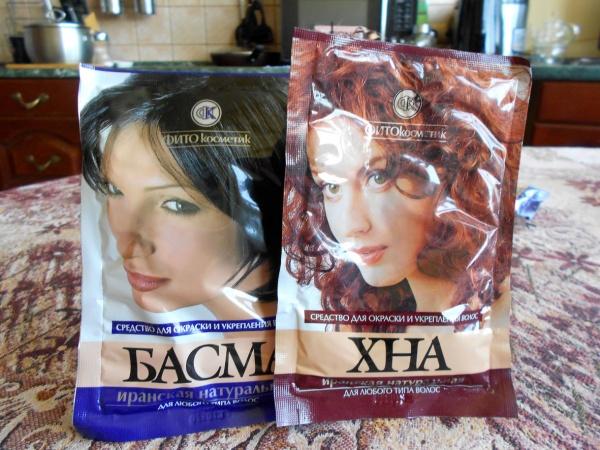 Хна и басма для волос