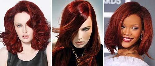 Красные тона волос