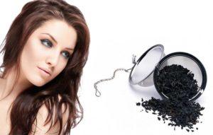 маска для седых волос с чёрным чаем