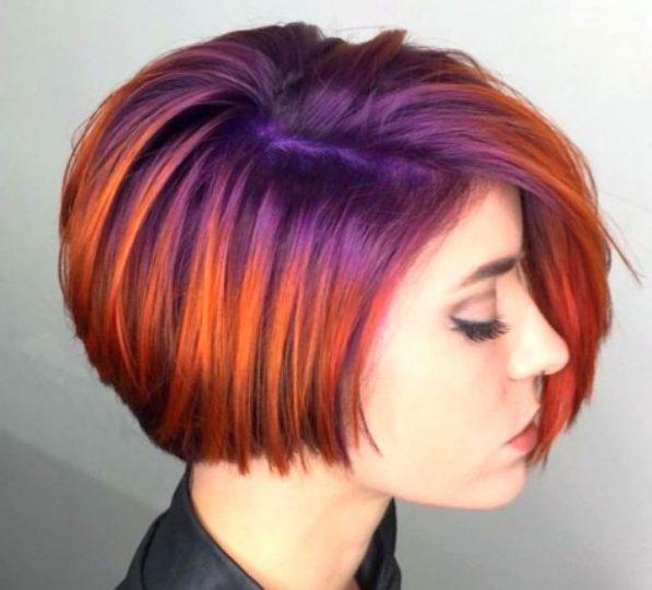 Как можно покрасить короткие волосы
