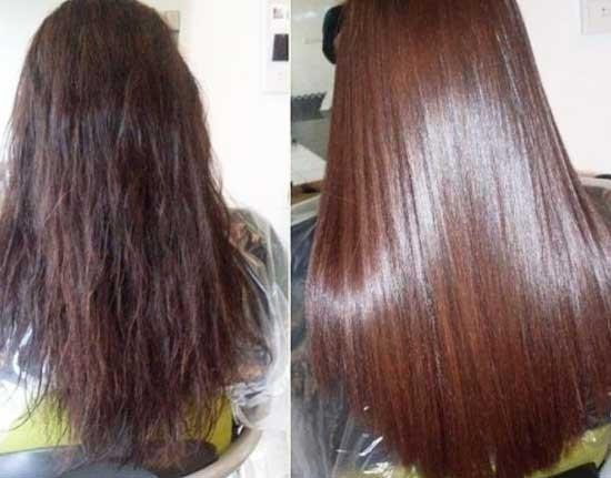 Шелковое ламинирование волос
