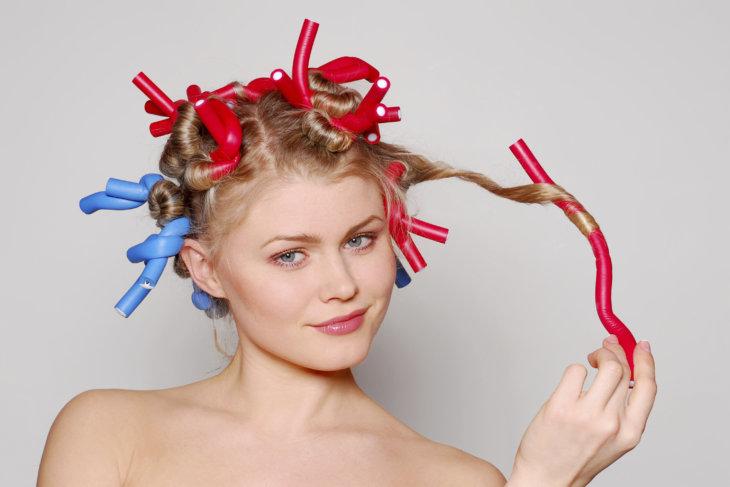 Биохимическая завивка волос крупные