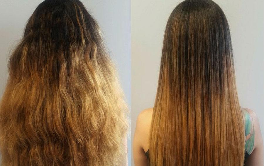 Горячее кератиновое восстановление волос