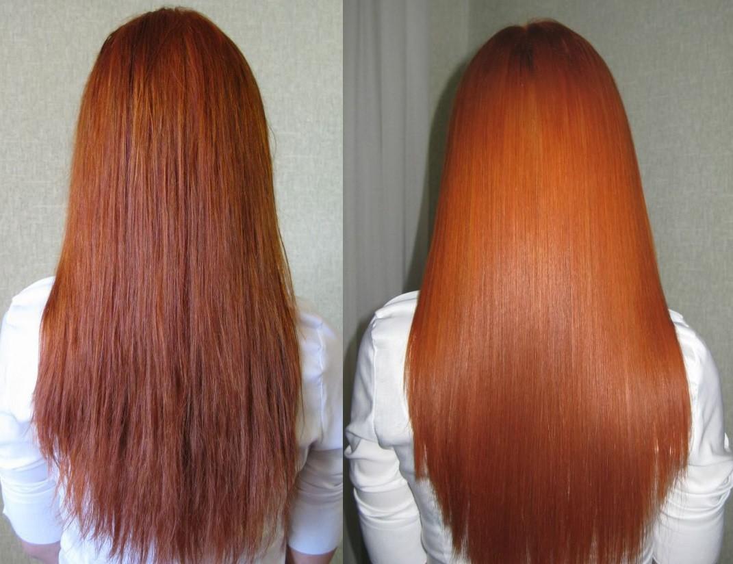 Ботокс для волос до и после картинки