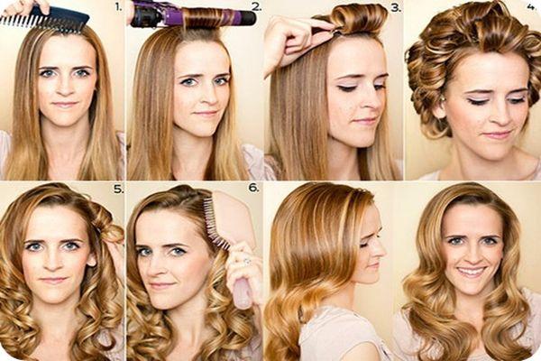 накручивание волос в домашних условиях