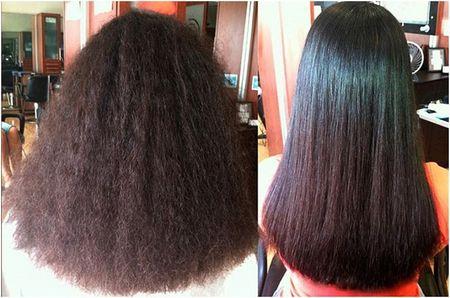 Действие флюида на волосы