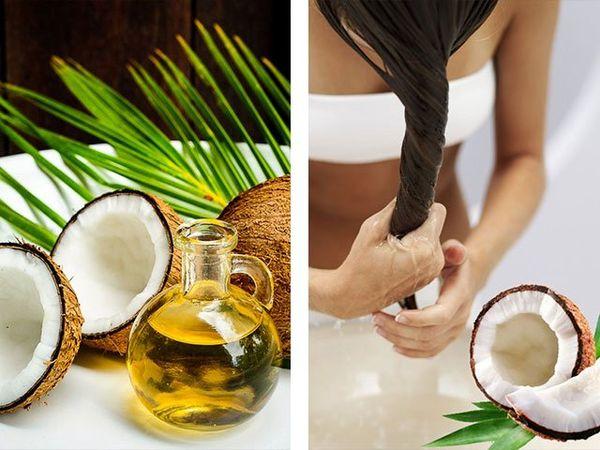 Кокосовое масло для жирных волос