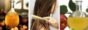 Уксус от жирных волос