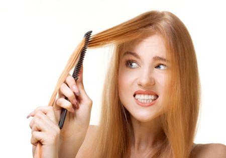 попытки ухаживания за волосами