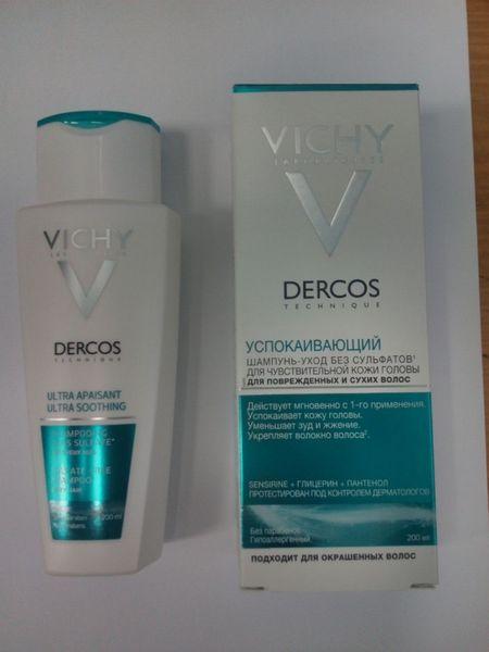 Vichy «DERCOS» Успокаивающий шампунь-уход