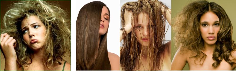 Девушки с разными типами волос