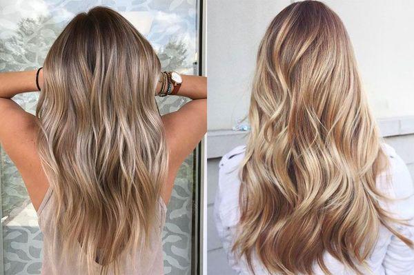 Бразильское мелирование длинных волос