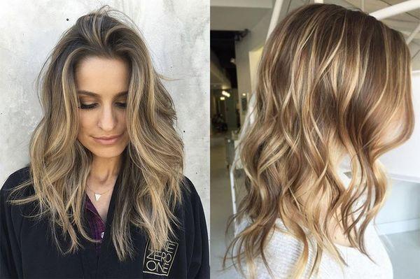 Двойное мелирование волос
