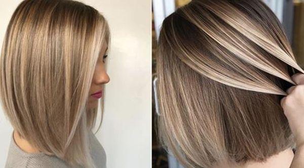 Широкое мелирование на темные волосы