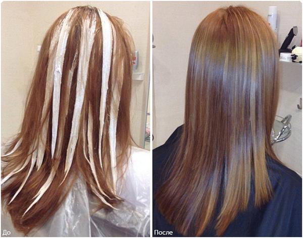 Окраска волос только сверху