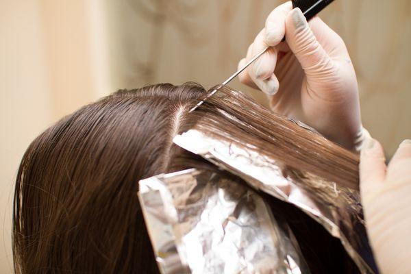 Крупное мелирование на длинные волосы