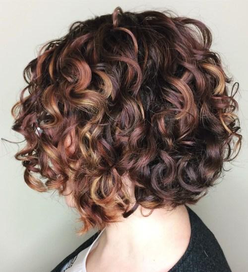 Цвет волос для кудрявых