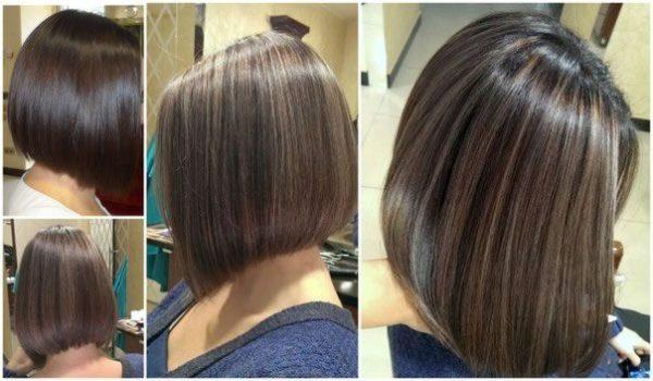 Мелирование на кудрявые волосы средней длины