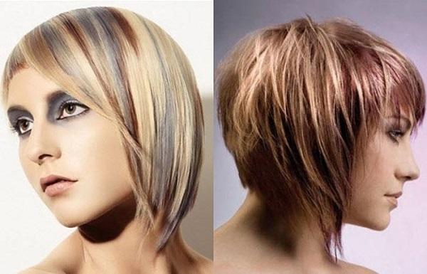 Мелирование на русые волосы средней длины