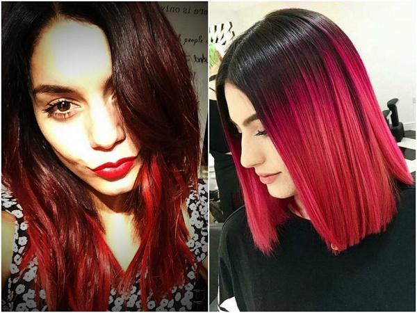 Темно-красный цвет волос (37 фото): кому идут темные оттенки с красным отливом? Как покрасить волосы и ухаживать за ними после окрашивания?