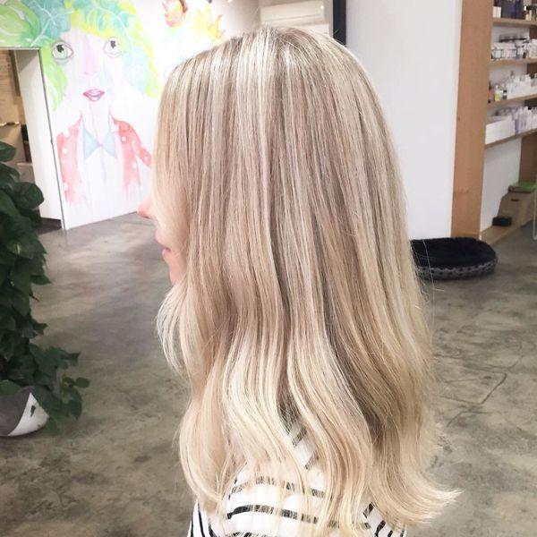 на белые волосы для блондинок