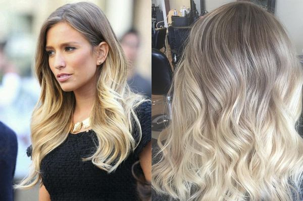 Окрашивание омбре светлых волос