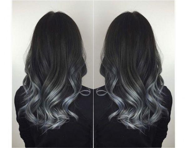 Балаяж на черные волосы: фото на короткие, средние и длинные волосы, как сделать в домашних условиях,цветной балаяж на черные волосы