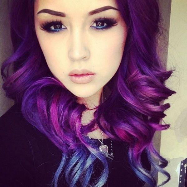Фиолетовое омбре