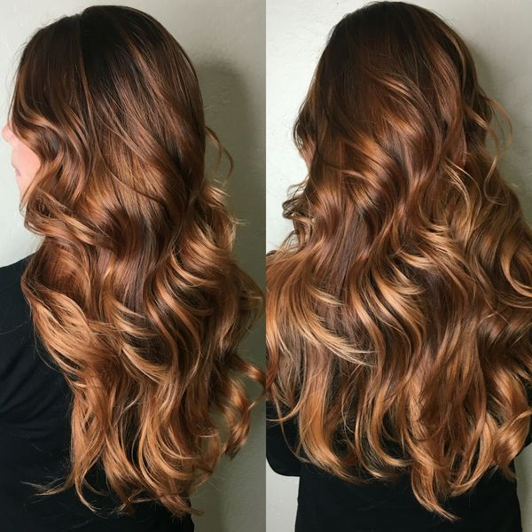 Покраска волос балаяж на средние волосы