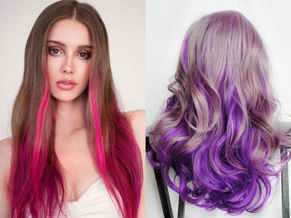 Мелирование волос разными цветами