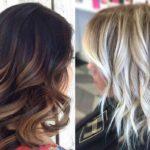 Балаяж на волосы до плеч – фото до и после, ТОП 3 модных оттенка: пепельный, фиолетовый и красный