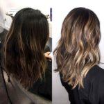Окрашивание балаяж на темные волосы средней длины: популярные оттенки и фото до и после