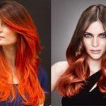 Рыжий балаяж: фото на короткие, средние и длинные волосы, техника, стоимость и уход
