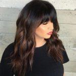 Окрашивание балаяж на черные волосы – фото до и после, виды и ТОП модных оттенков: красный, пепельный, фиолетовый