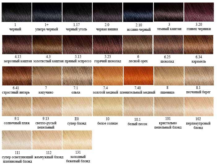 Палитра Color Naturals цвета