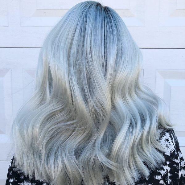 Пепельно синий блонд